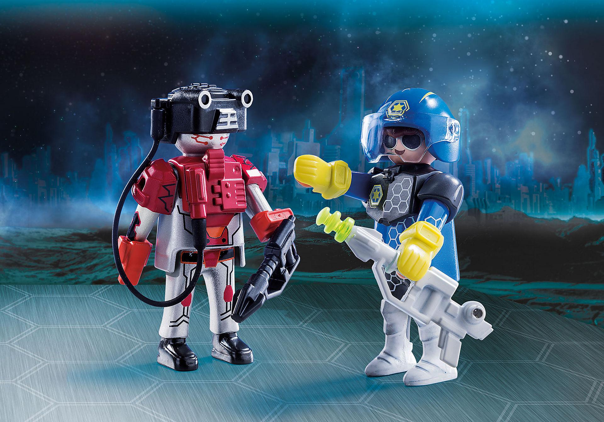 70080 DuoPack Policier de l'espace et robot zoom image1