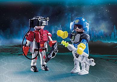 70080_product_detail/DuoPack Policier de l'espace et robot