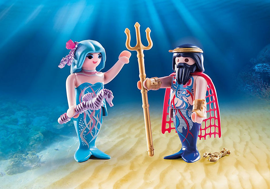 70082 Roi des mers et sirène detail image 1