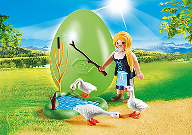 70083 Jeune fille avec oies