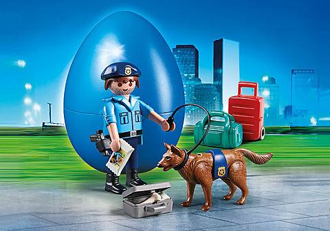 70085 Polizist mit Spürhund