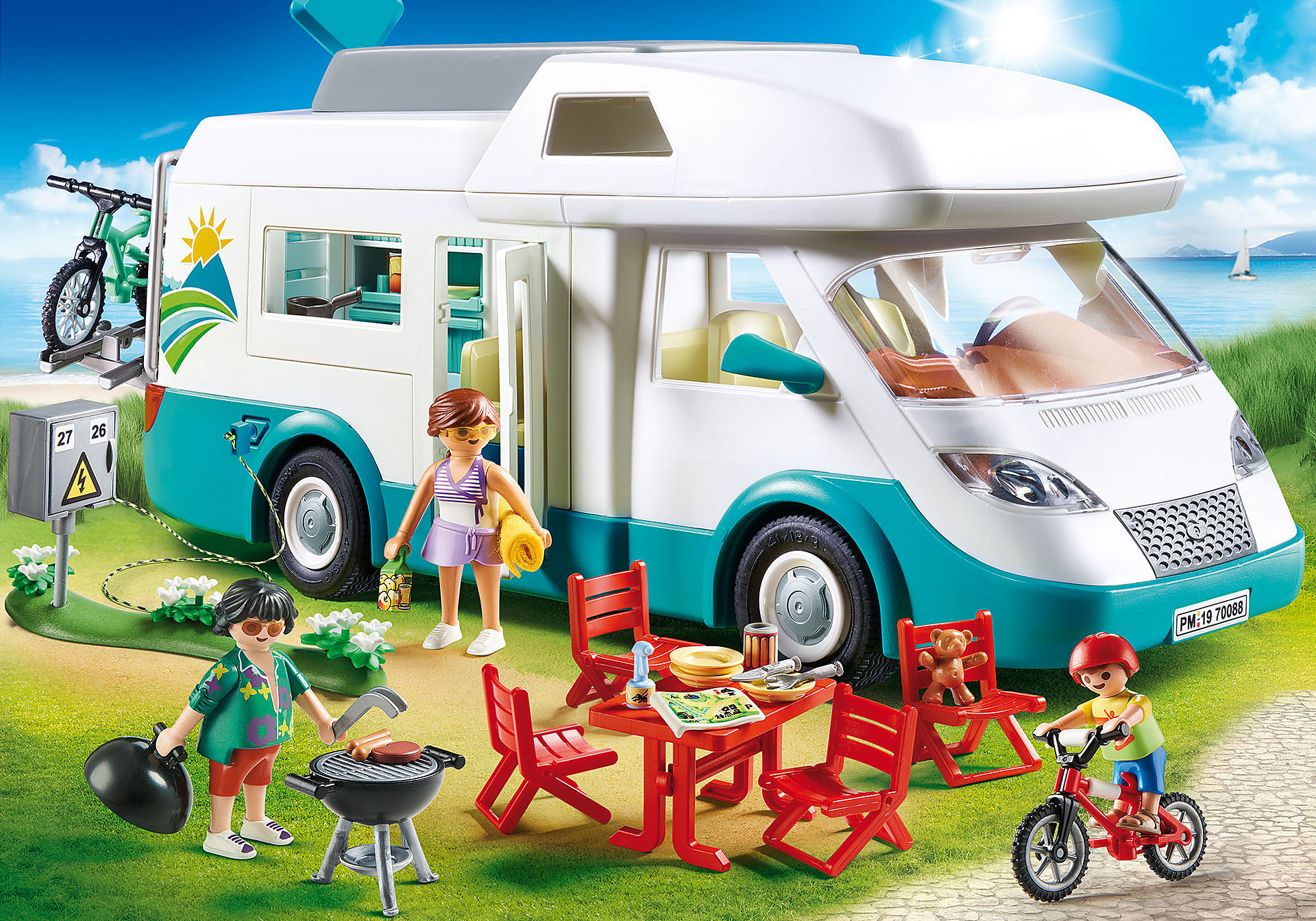 70088 Mobilhome met familie zoom image1