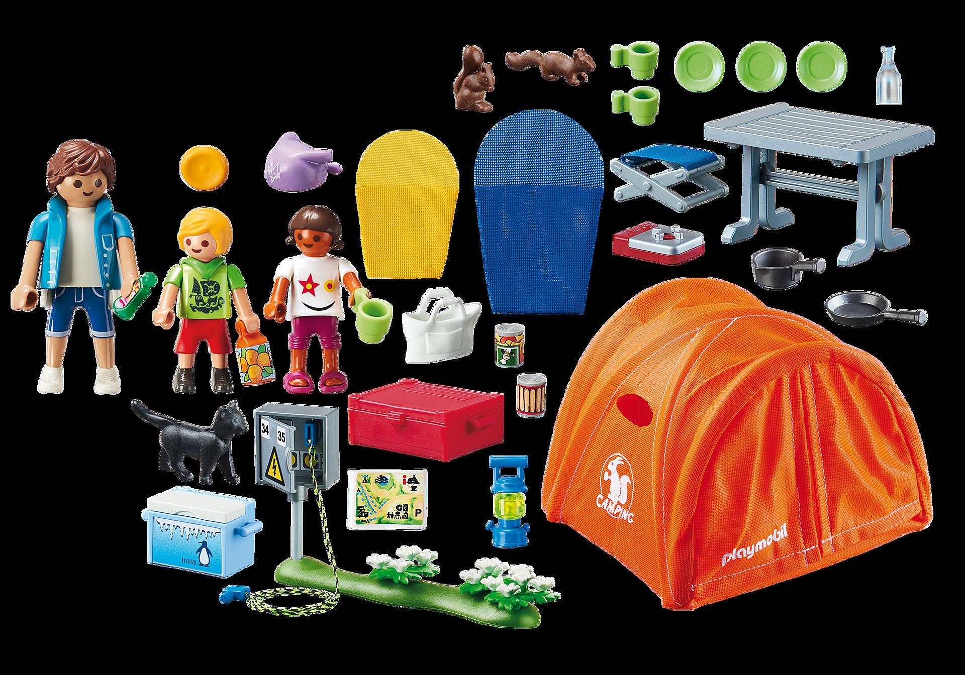 70089 Campingtur med stort tält zoom image3