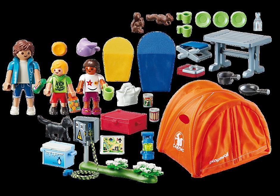 70089 Kampeerders met tent detail image 3