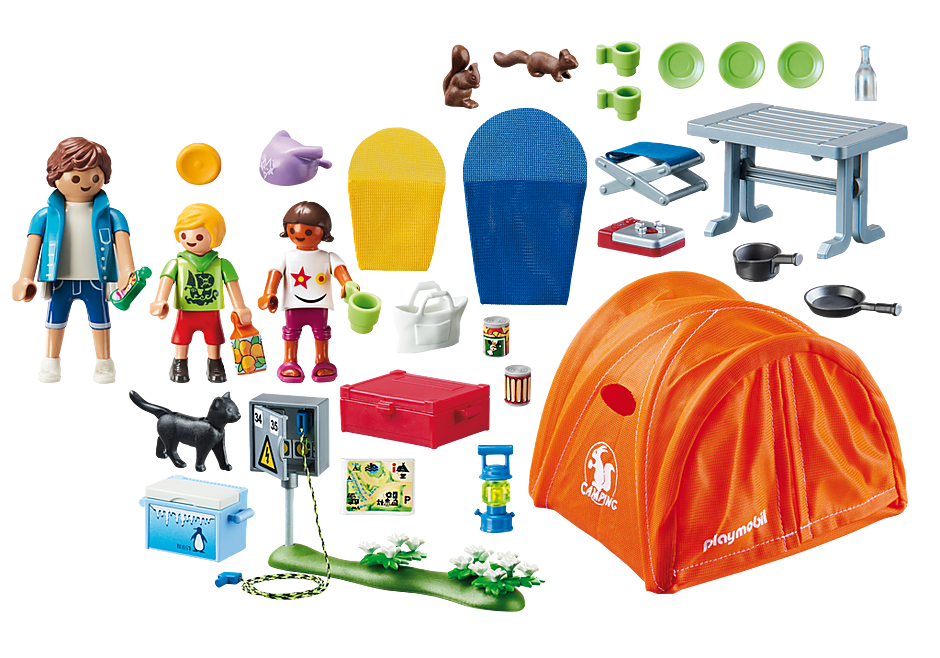 70089 Tente et campeurs detail image 3