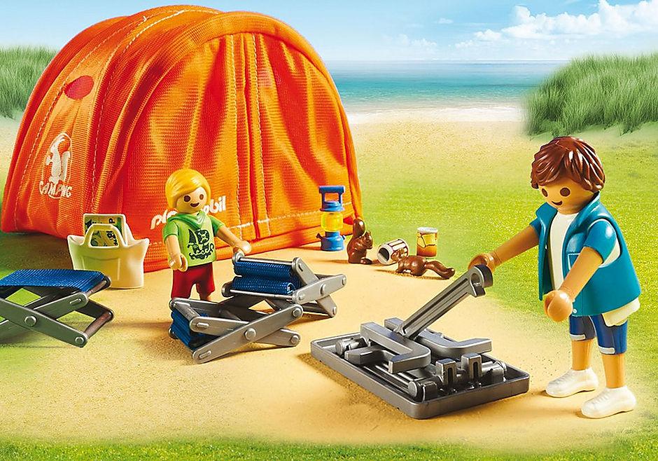 70089 Kampeerders met tent detail image 5