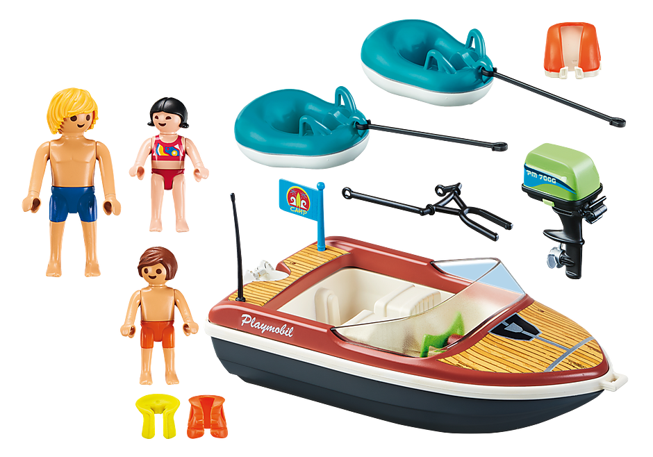 70091 Speedboat with Tube Riders detail image 3