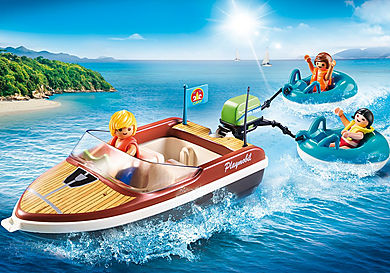 70091 Speedboat with Tube Riders