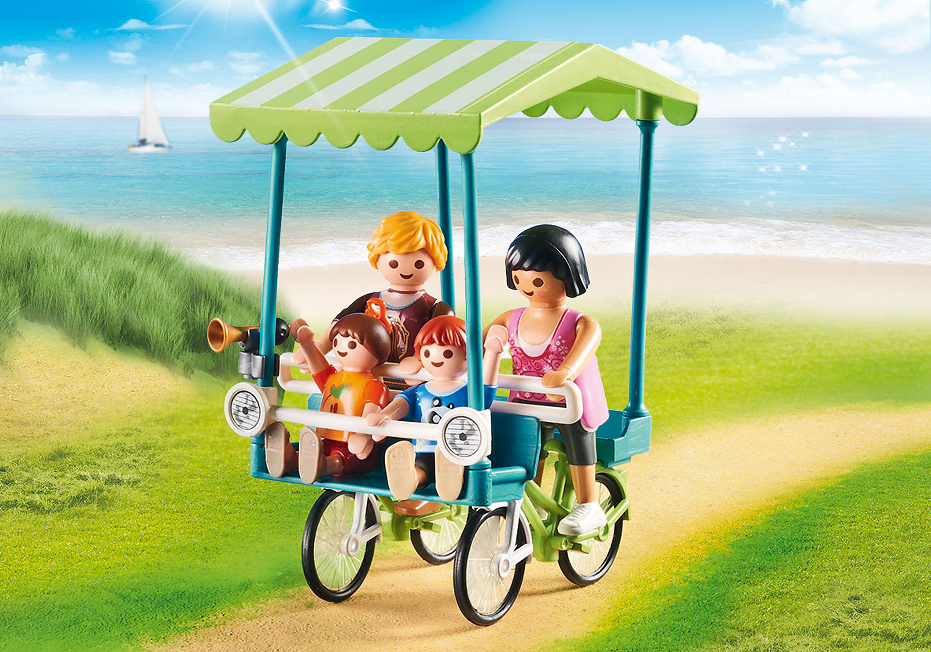 http://media.playmobil.com/i/playmobil/70093_product_extra1/Famiglia in bicicletta
