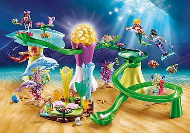 70094 Korallenpavillon mit Leuchtkuppel