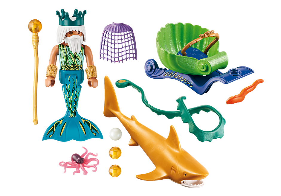 70097 Roi des mers avec calèche royale  detail image 3