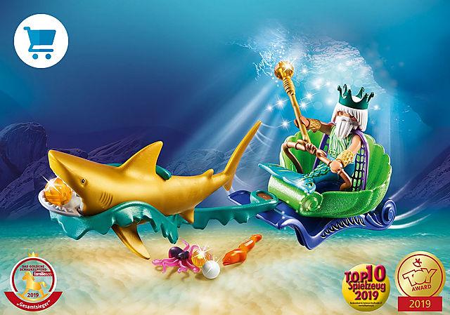 70097_product_detail/Re dei mari con carrozza e squalo