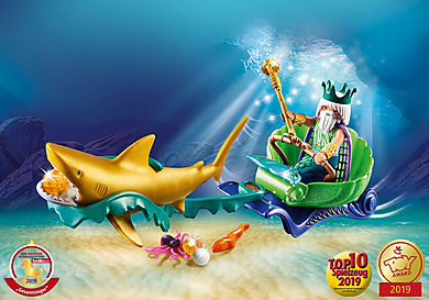70097 Roi des mers avec calèche royale