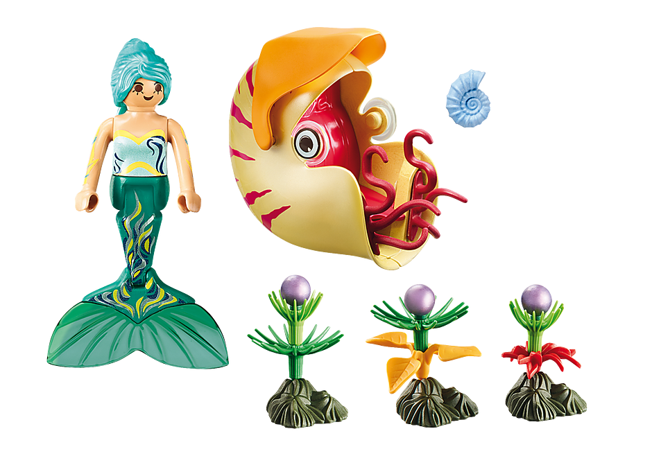 70098 Mermaid with Sea Snail Gondola detail image 3