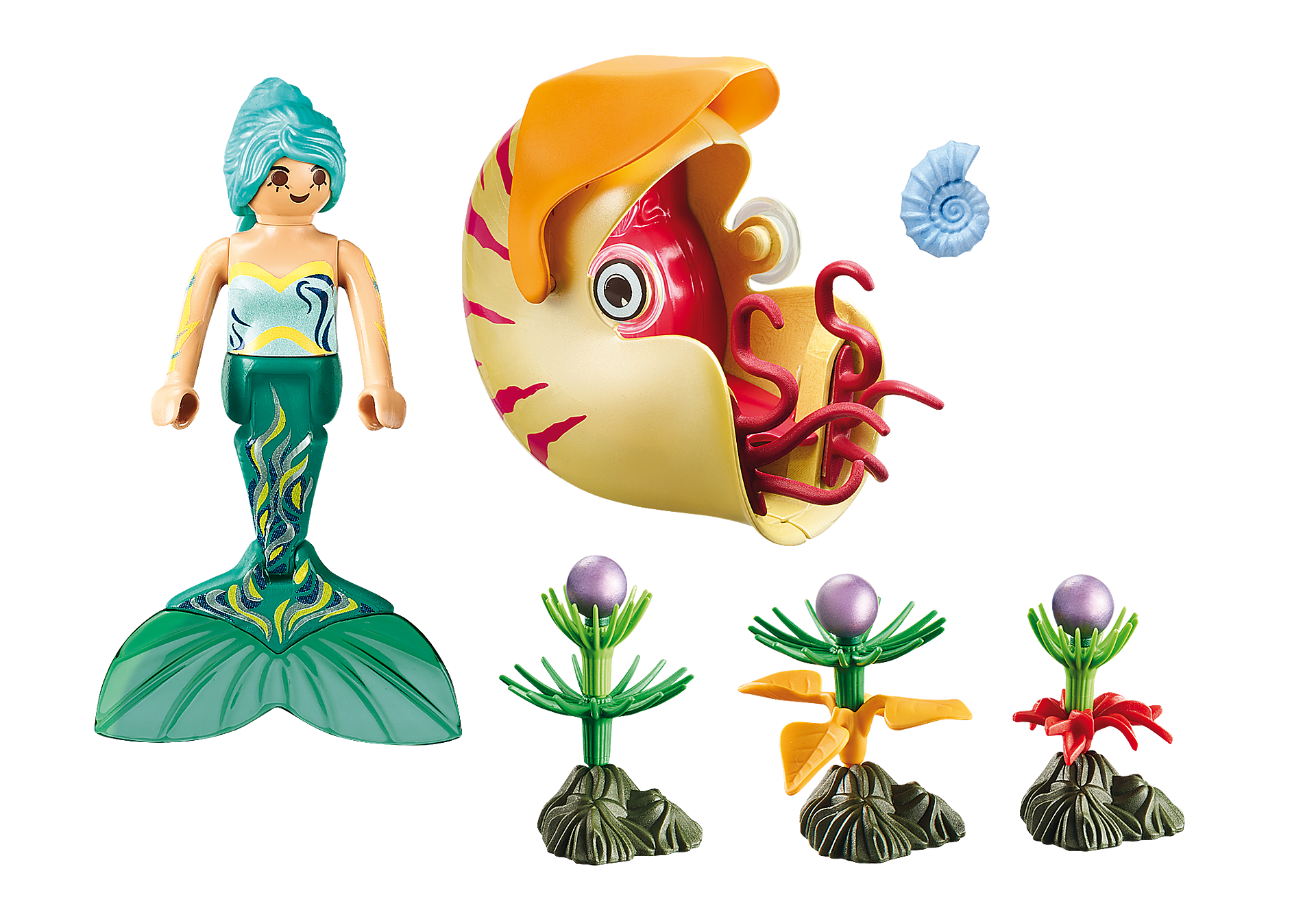 70098 Mermaid with Sea Snail Gondola zoom image3