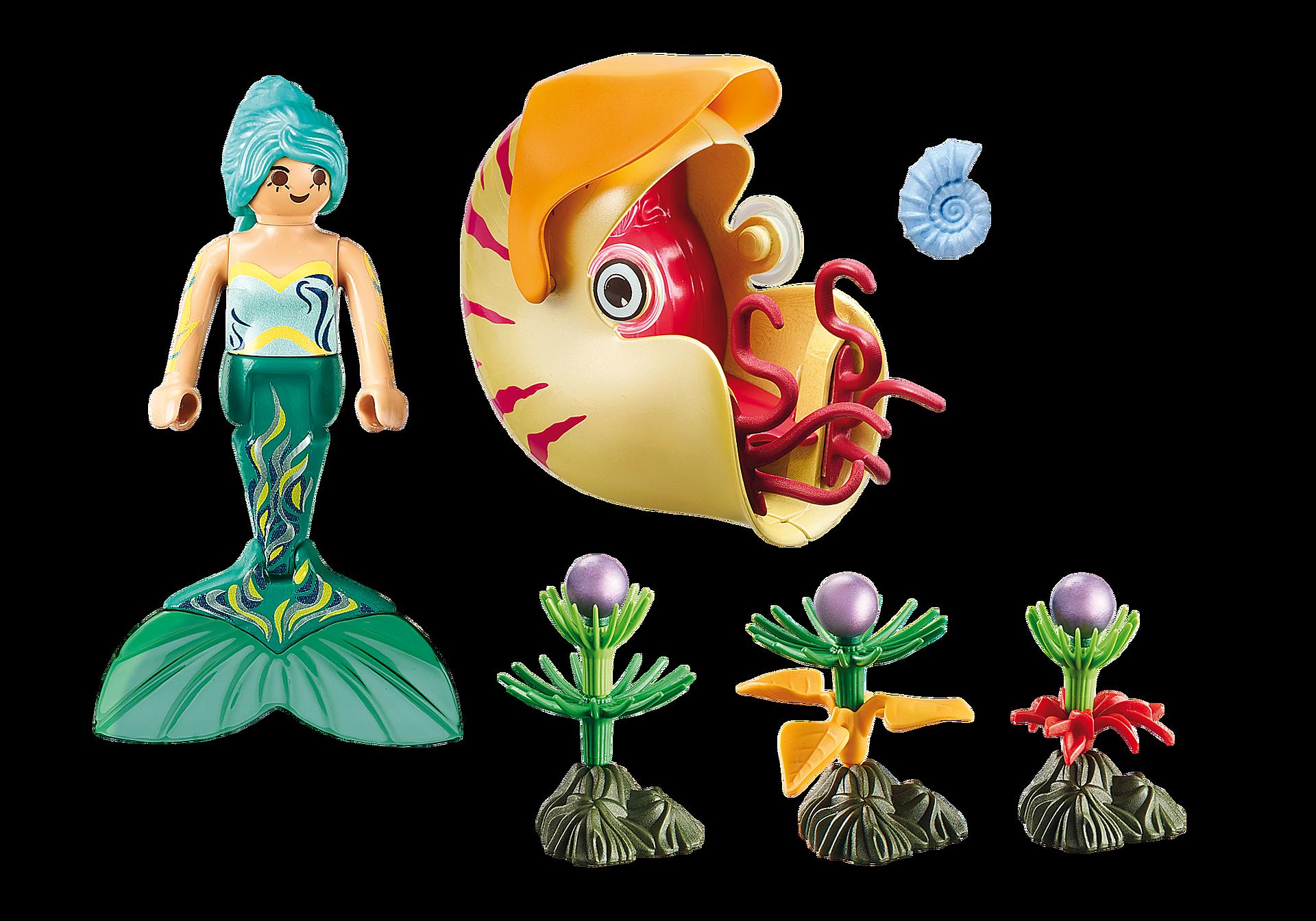 70098 Sirène avec escargot des mers  zoom image3