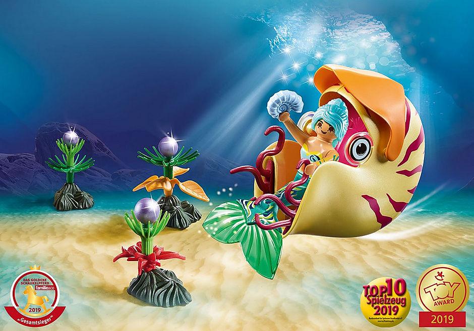 70098 Havfrue med blækspruttegondol detail image 1