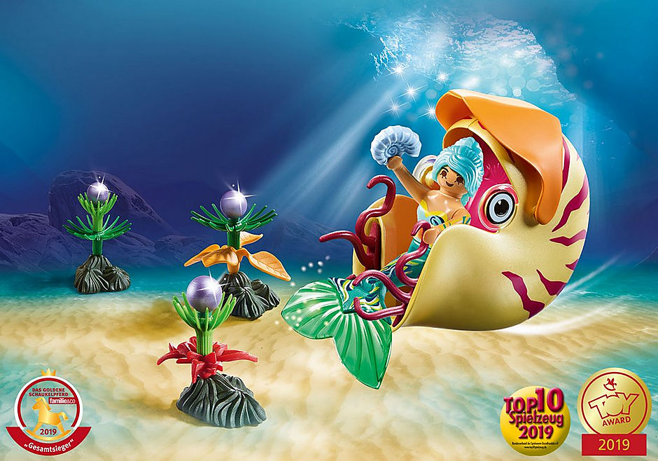 70098 Mermaid with Sea Snail Gondola detail image 1