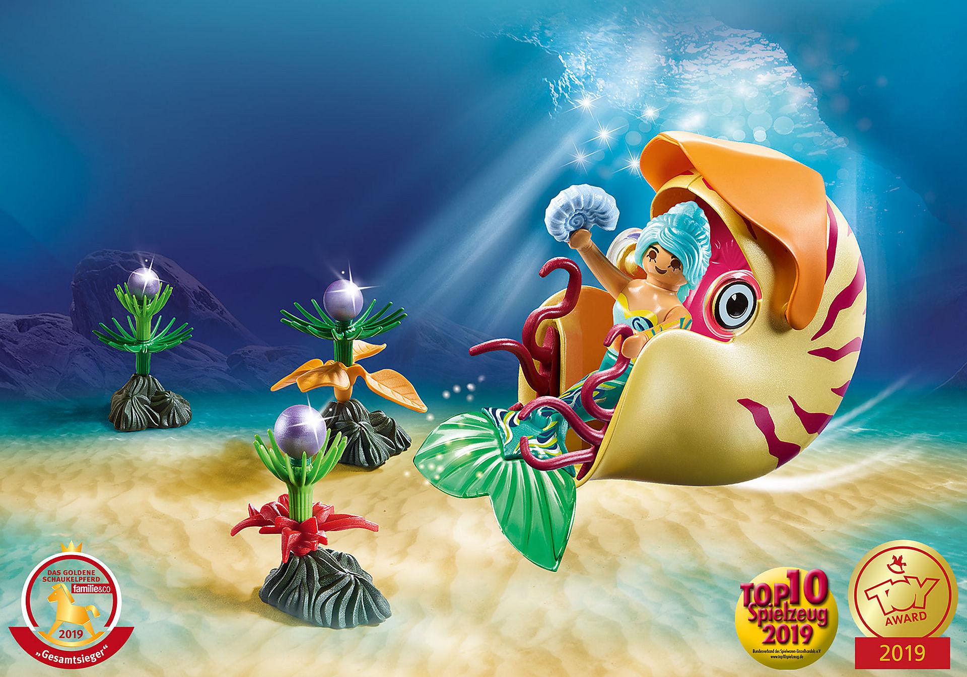 70098 Sirène avec escargot des mers  zoom image1