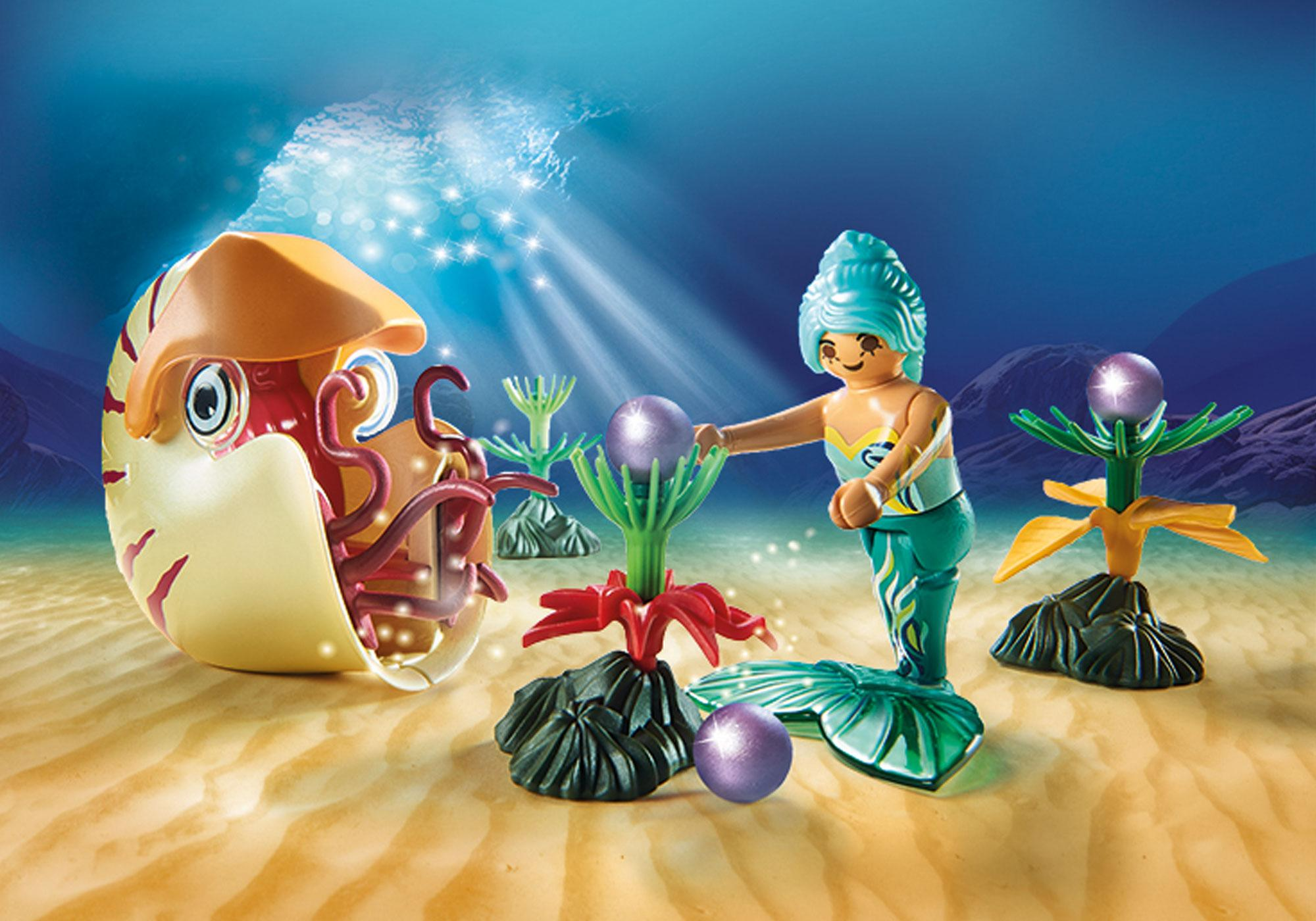 http://media.playmobil.com/i/playmobil/70098_product_extra1/Sirène avec escargot des mers