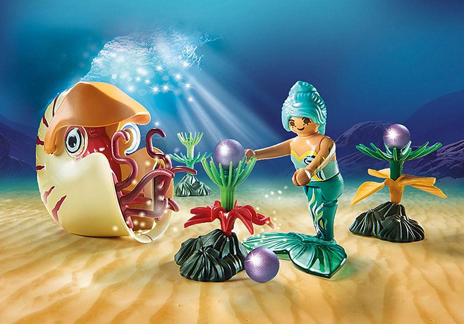 70098 Sjöjungfru med havssnigelsgondol detail image 4