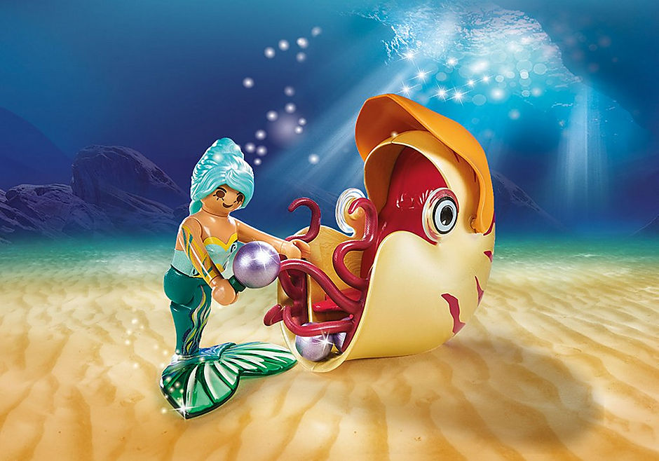 70098 Mermaid with Sea Snail Gondola detail image 5