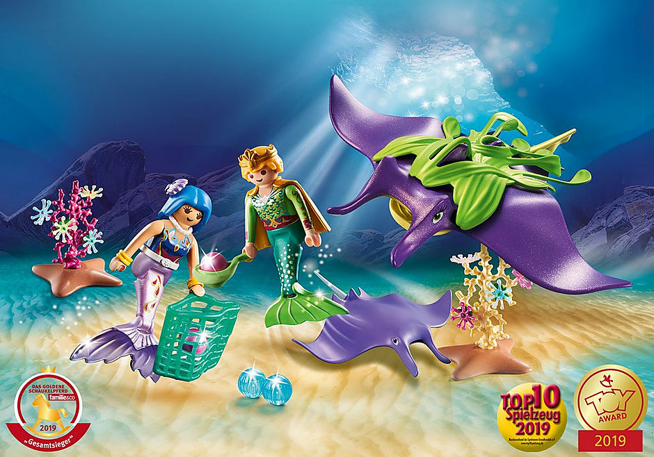 70099 Pearl Collectors with Manta Ray detail image 1
