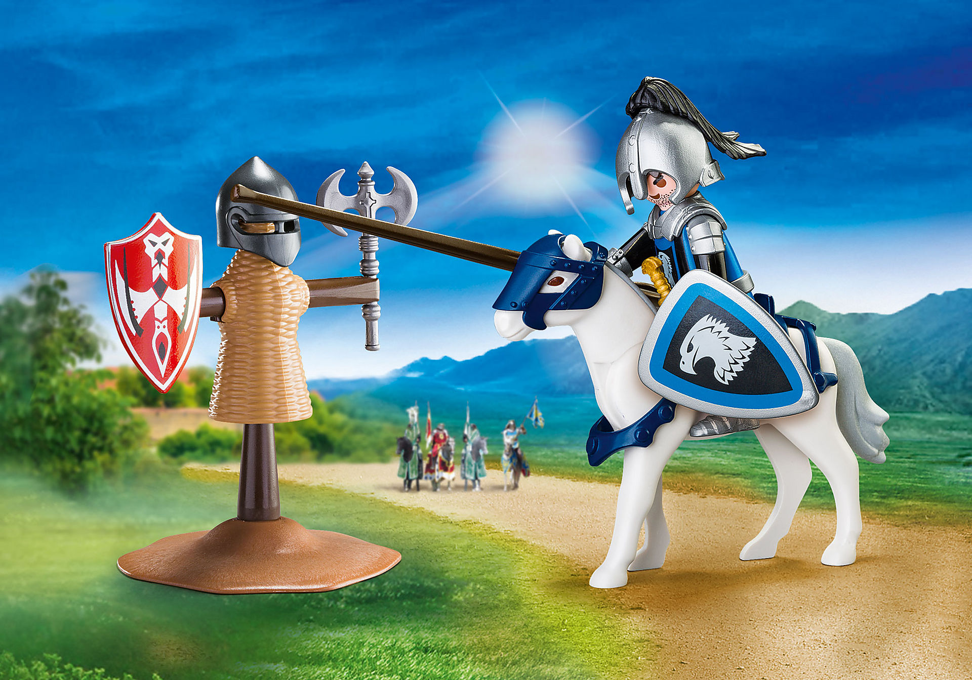 http://media.playmobil.com/i/playmobil/70106_product_detail/Valisette Chevalier et entrainement