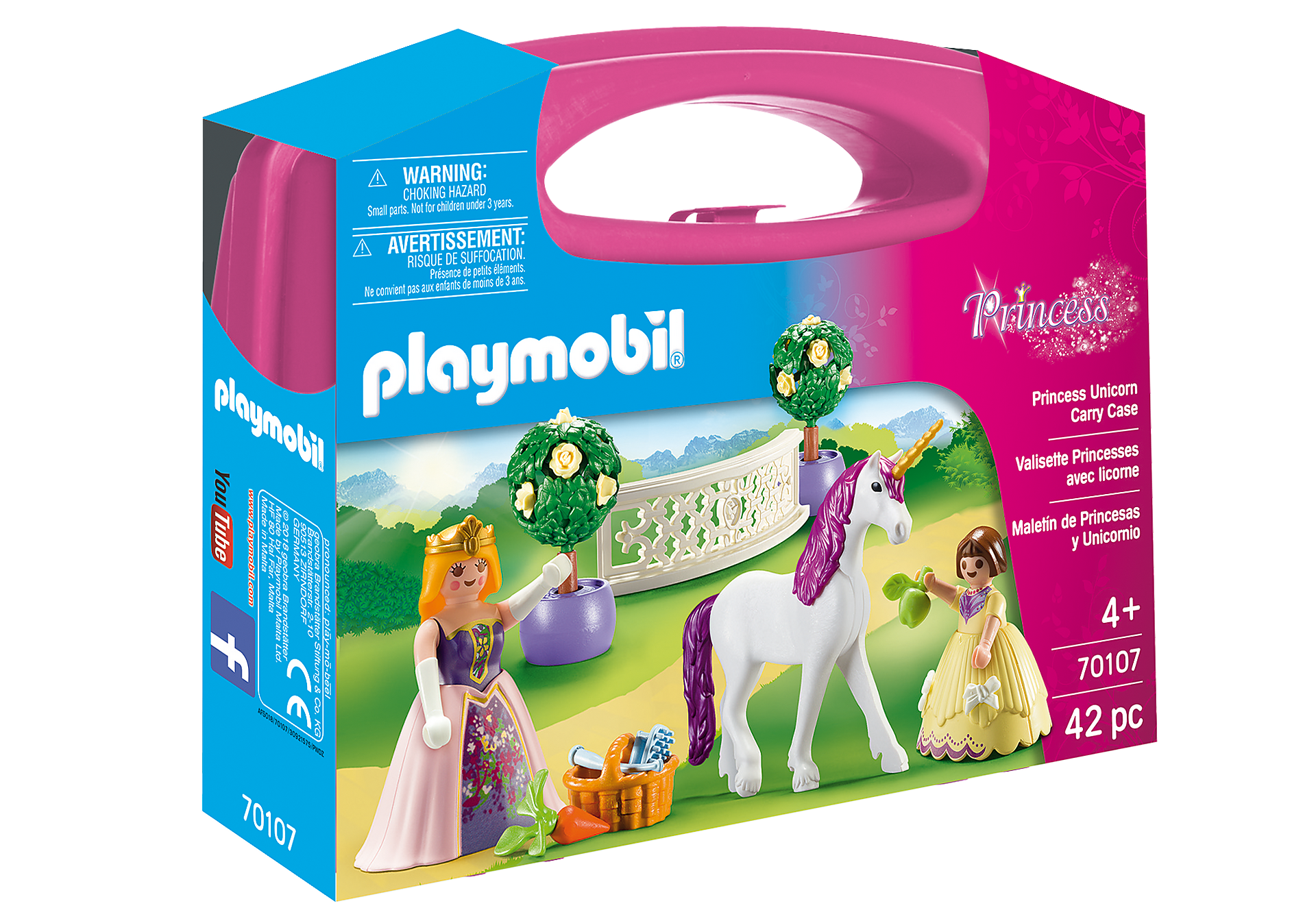 e82a88f3f Maleta grande Princesas e Unicórnio - 70107 - Playmobil® Portugal