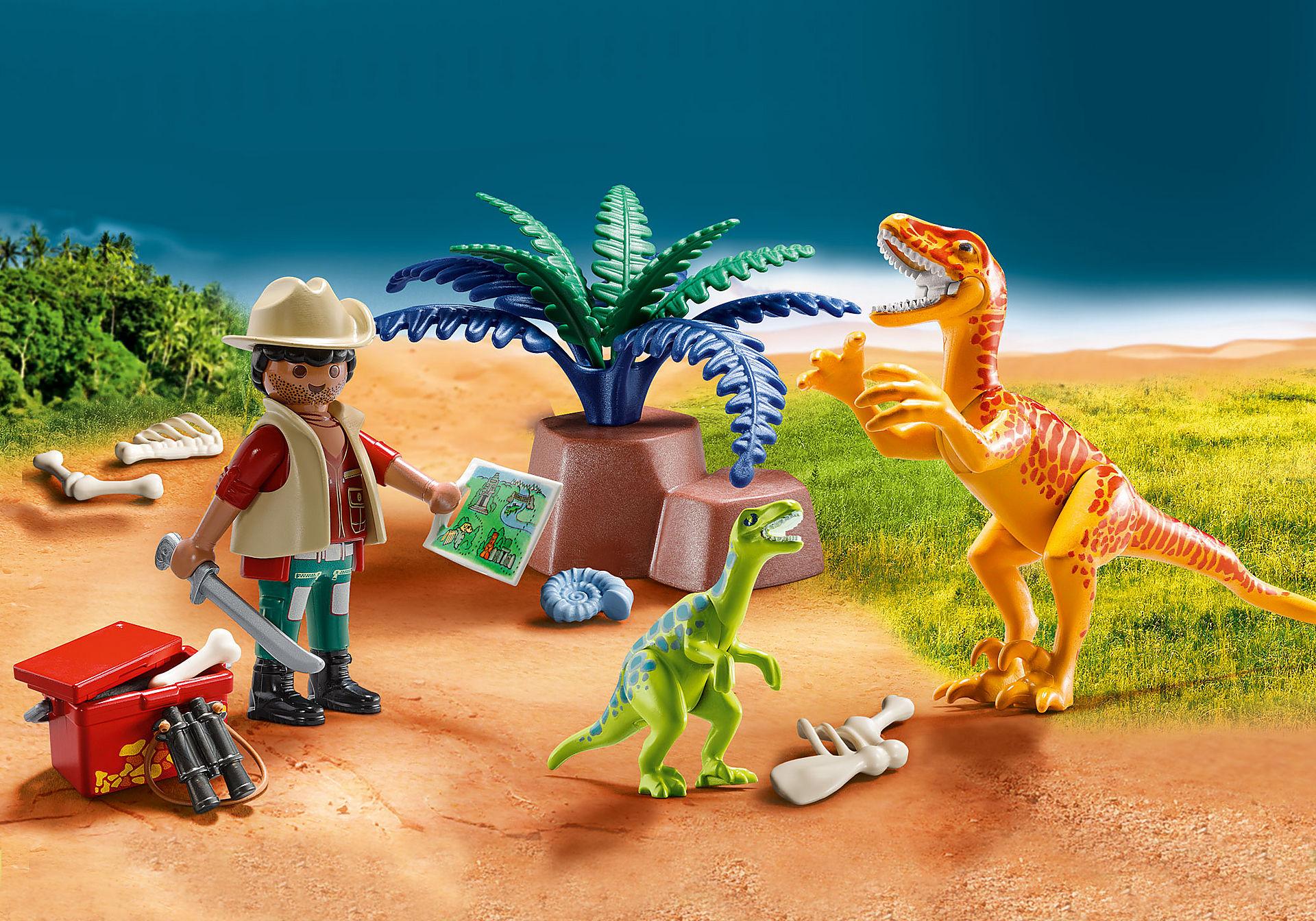 70108 Maletín grande Dinosaurios y Explorador zoom image1