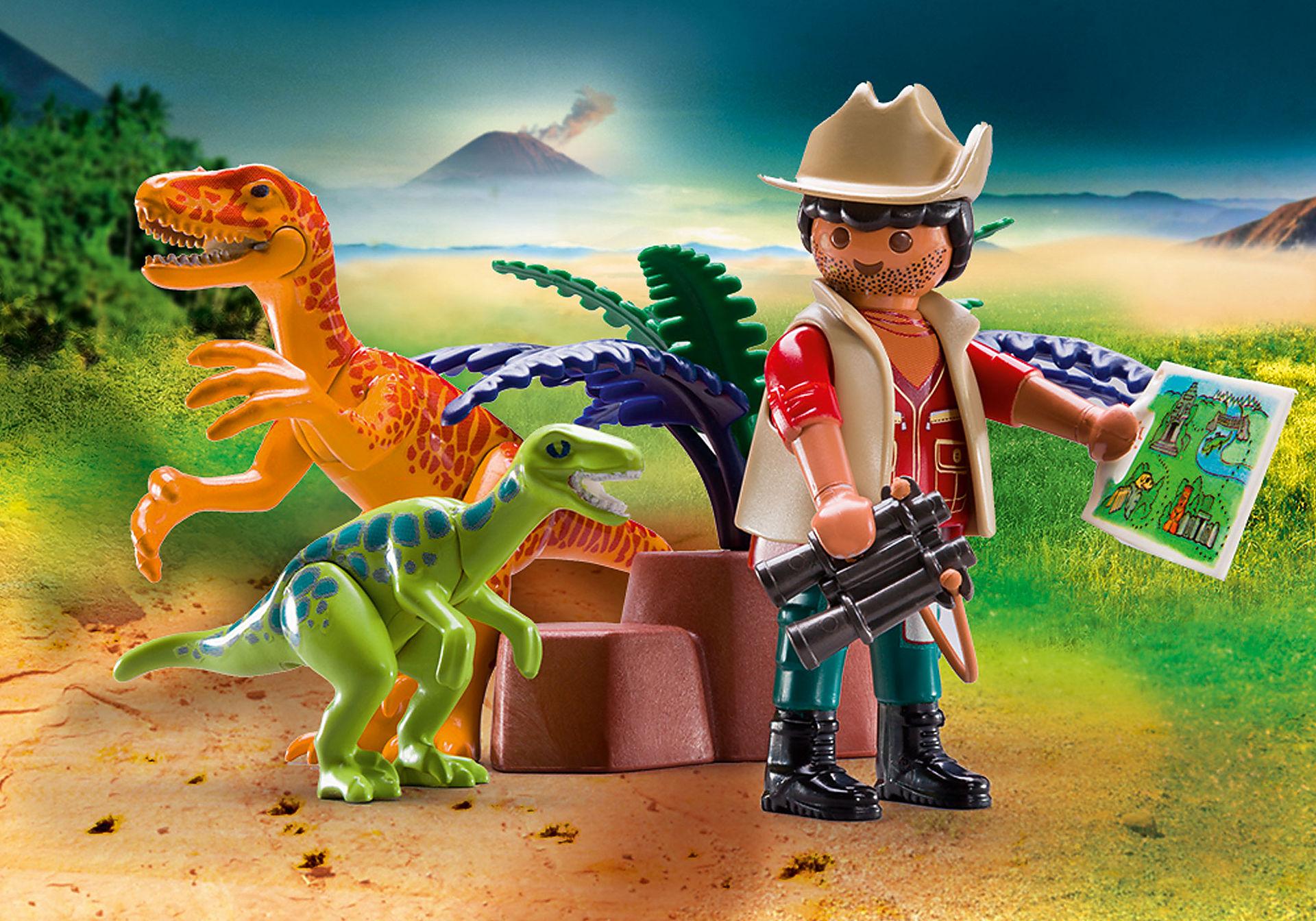 70108 Maletín grande Dinosaurios y Explorador zoom image4