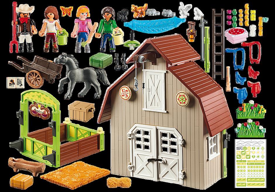 http://media.playmobil.com/i/playmobil/70118_product_box_back/Aχυρώνας με τη Λάκυ, την Πρου και την Άμπιγκεϊλ