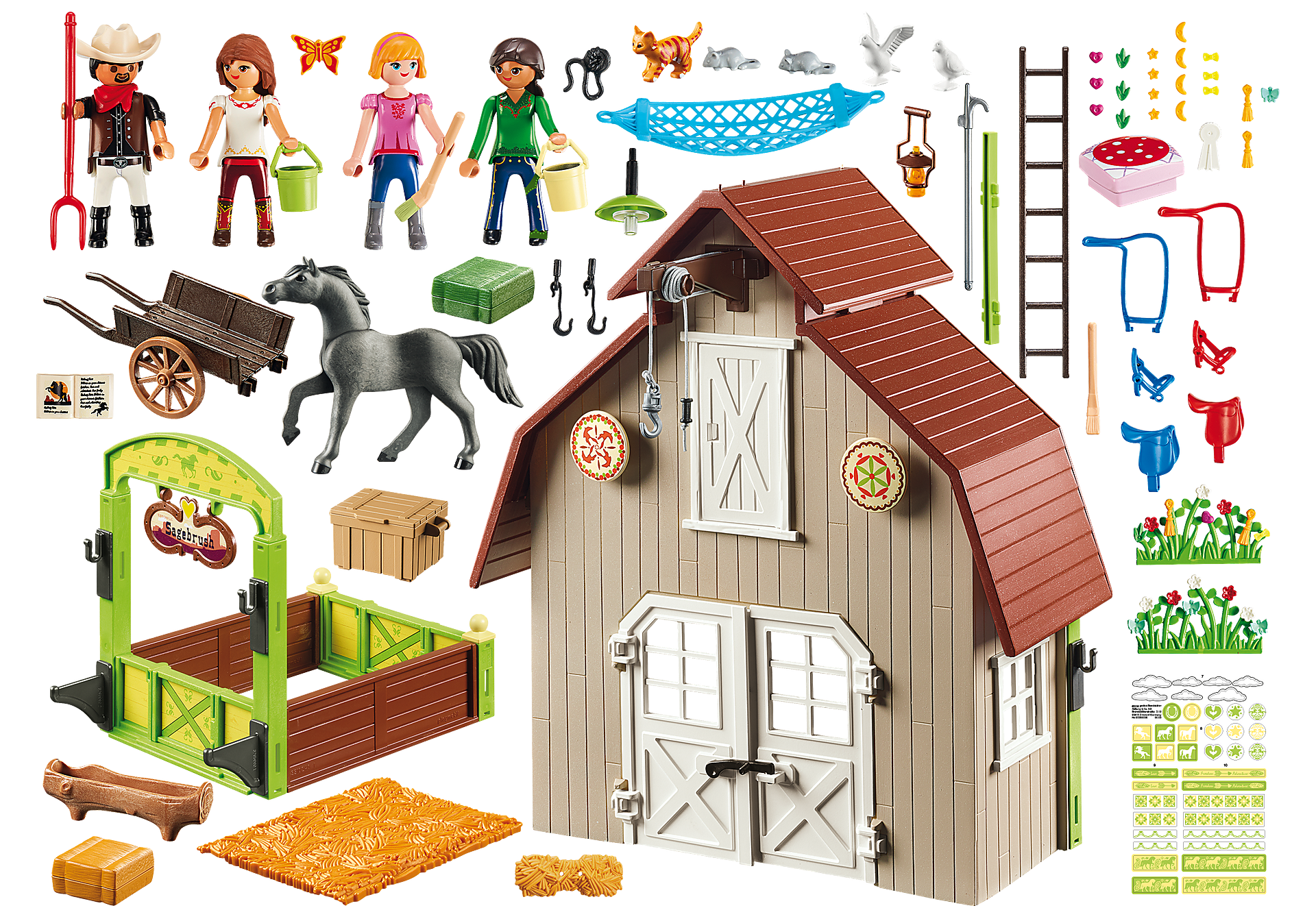 http://media.playmobil.com/i/playmobil/70118_product_box_back/Establo con Fortu, Pru y Abigaíl