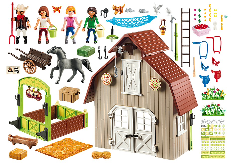http://media.playmobil.com/i/playmobil/70118_product_box_back/Schuur met Lucky, Pru en Abigail