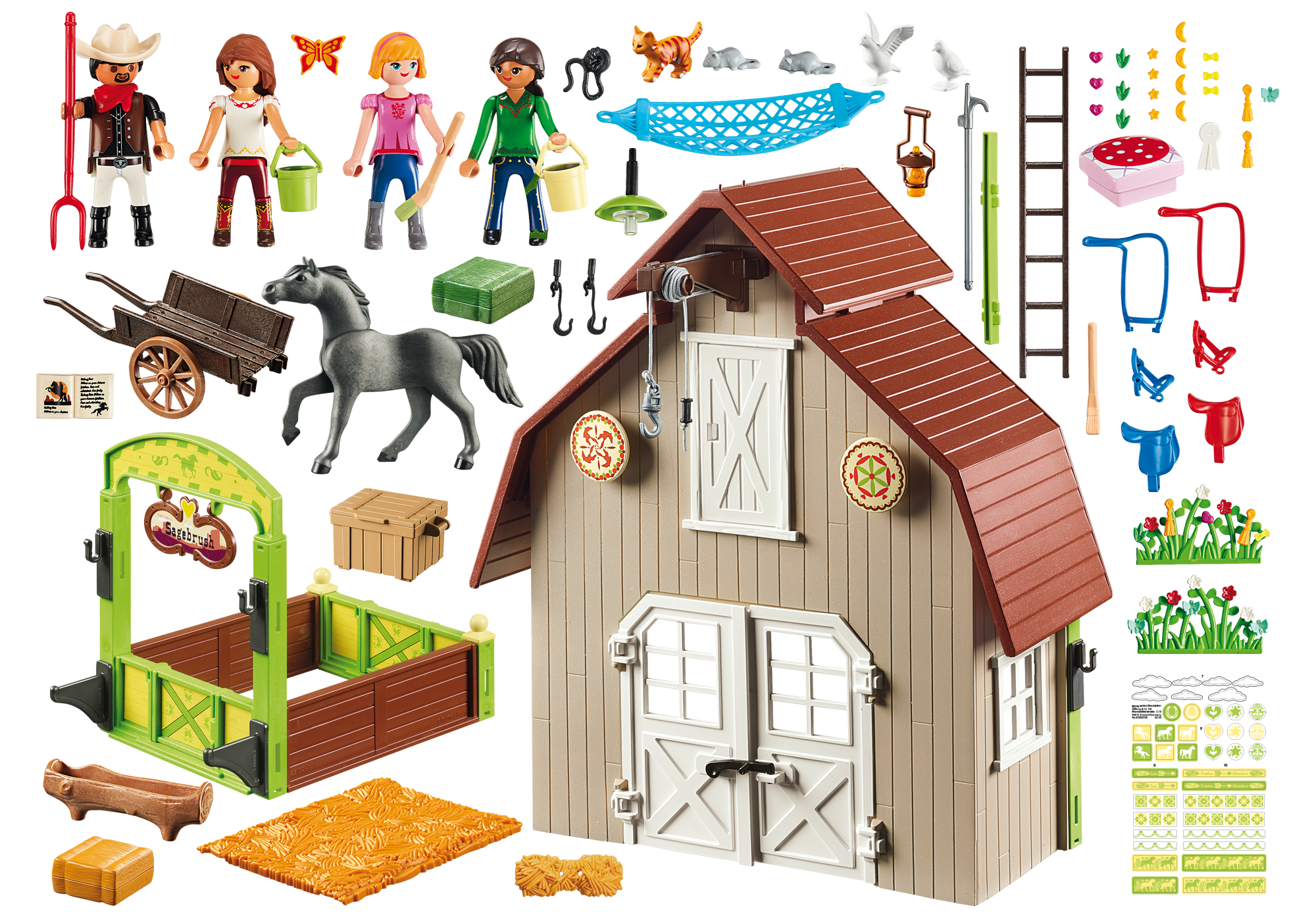 http://media.playmobil.com/i/playmobil/70118_product_box_back/Stall mit Lucky, Pru & Abigail