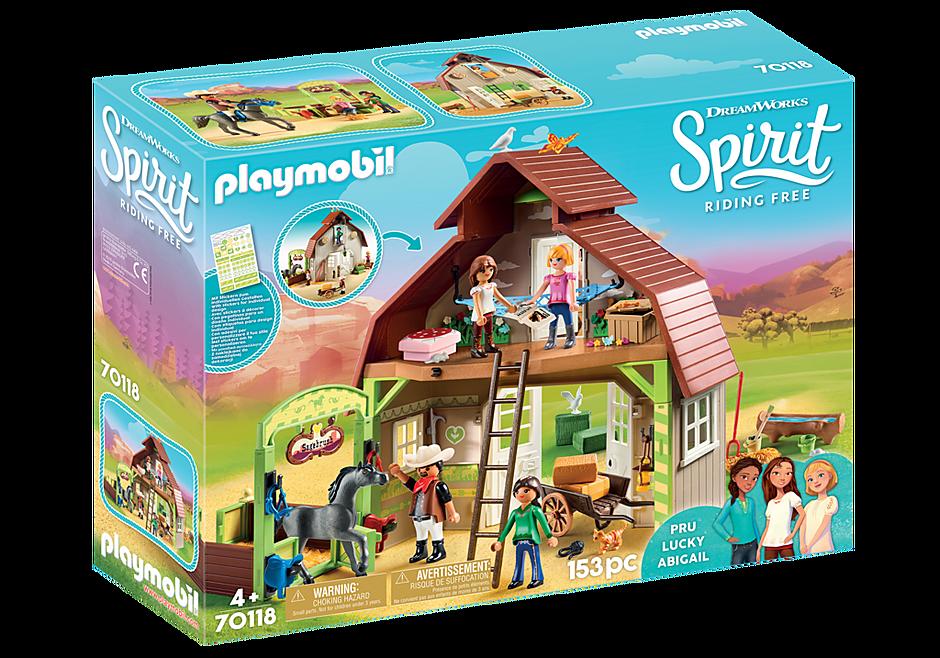 http://media.playmobil.com/i/playmobil/70118_product_box_front/Estábulo com Lucky, Pru e Abigail