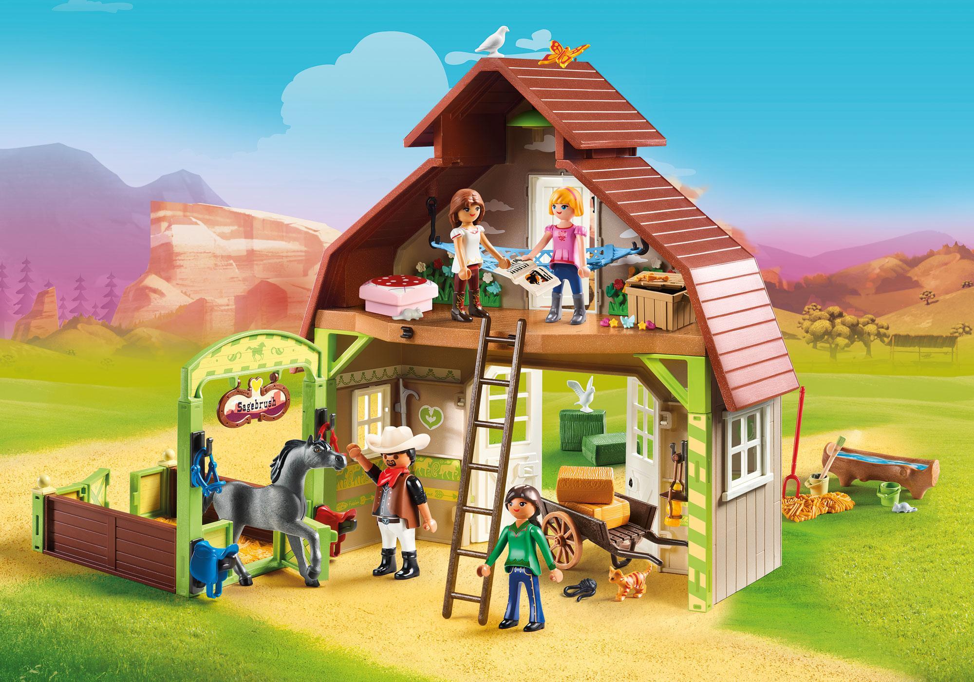 http://media.playmobil.com/i/playmobil/70118_product_detail/Estábulo com Lucky, Pru e Abigail