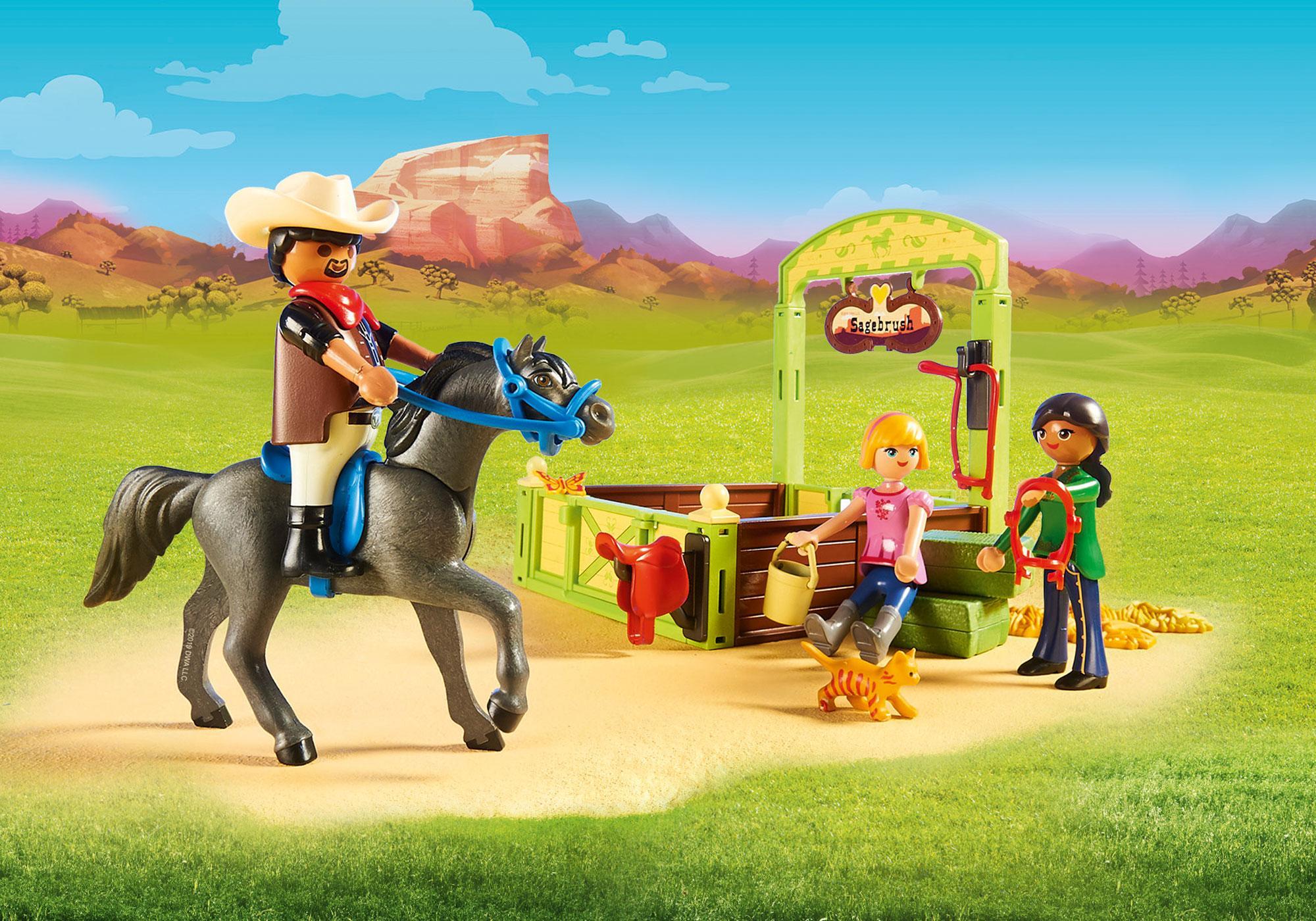 http://media.playmobil.com/i/playmobil/70118_product_extra1/Estábulo com Lucky, Pru e Abigail