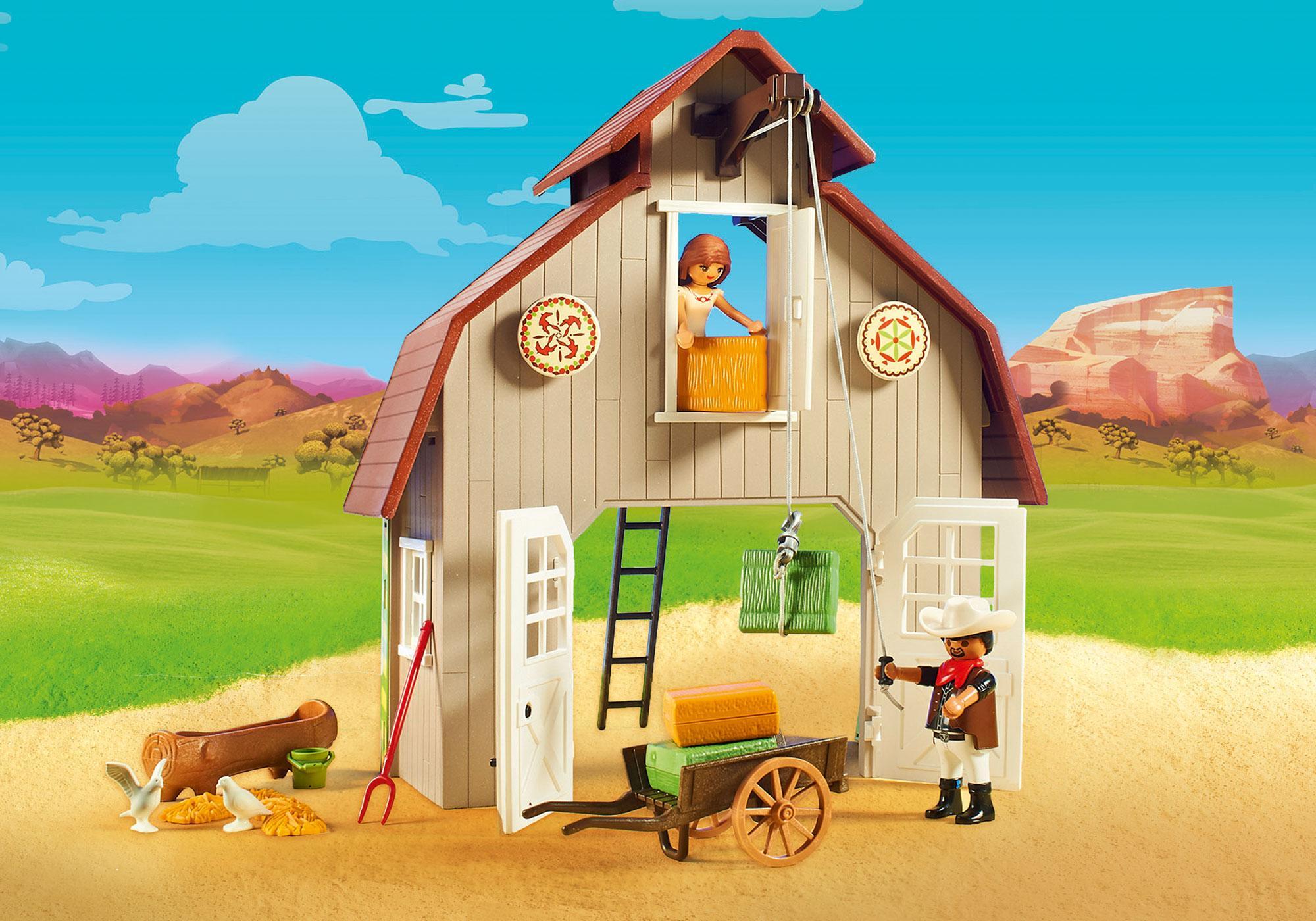 http://media.playmobil.com/i/playmobil/70118_product_extra2/Estábulo com Lucky, Pru e Abigail