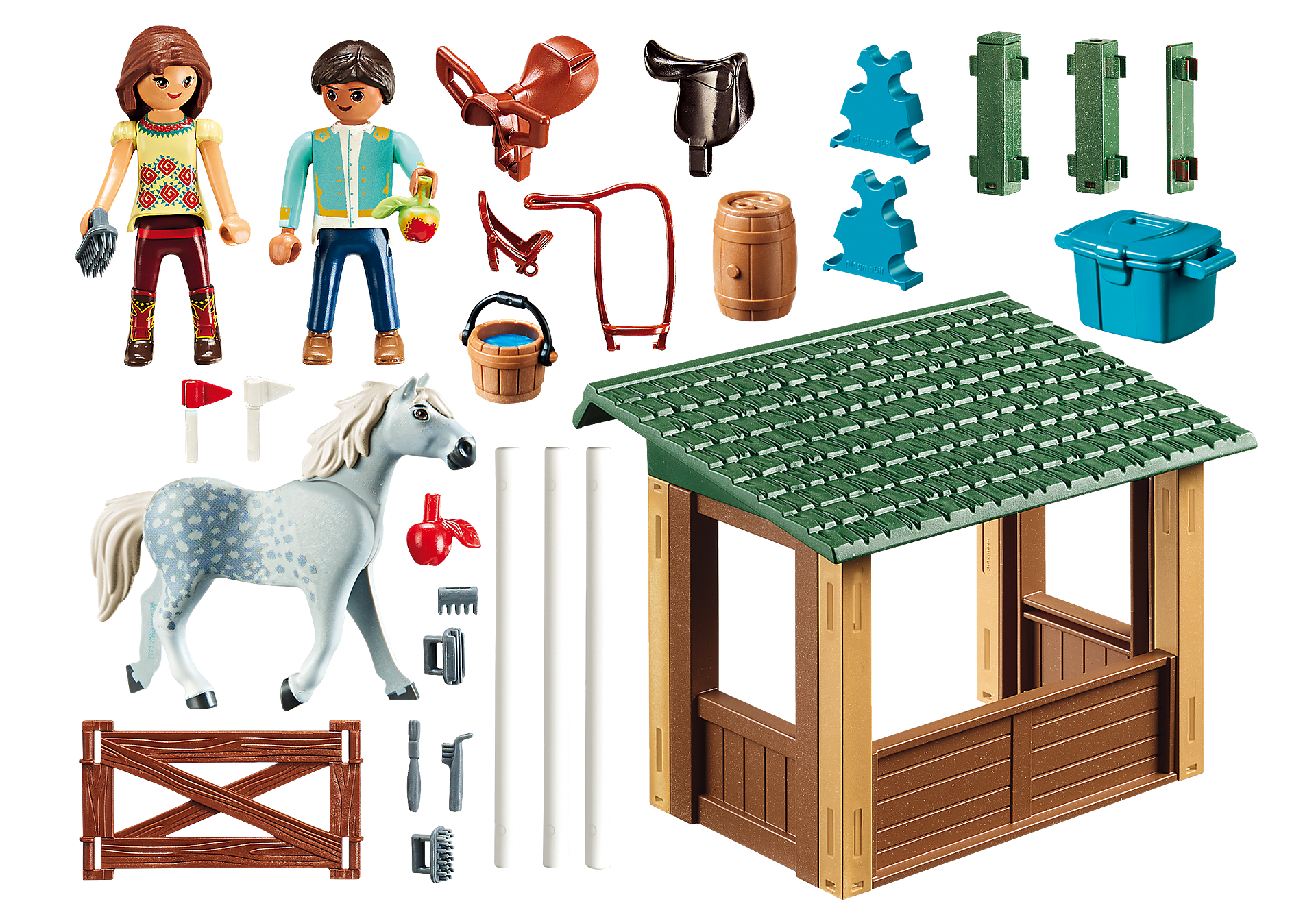 http://media.playmobil.com/i/playmobil/70119_product_box_back/Paddock com Lucky e Javier