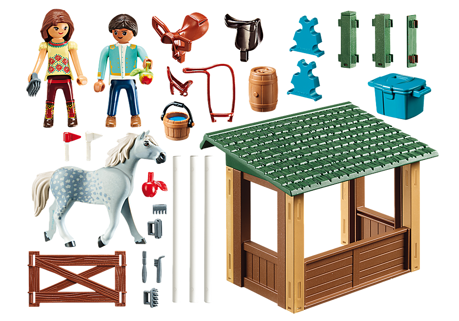 http://media.playmobil.com/i/playmobil/70119_product_box_back/Ridarena med Lucky och Javier