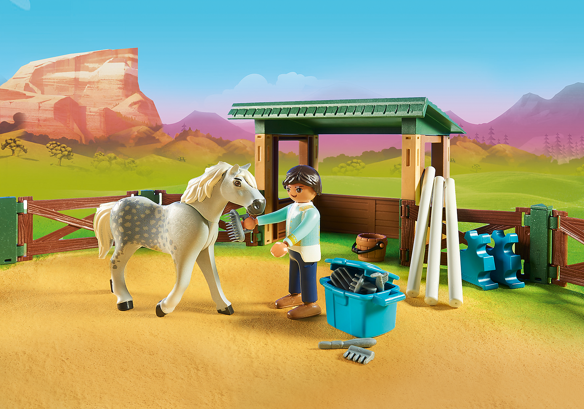 http://media.playmobil.com/i/playmobil/70119_product_extra1/Riding Arena with Lucky & Javier