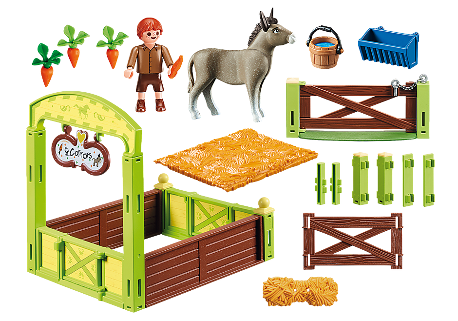 70120 Snips and Señor Carrots with Horse Stall detail image 3