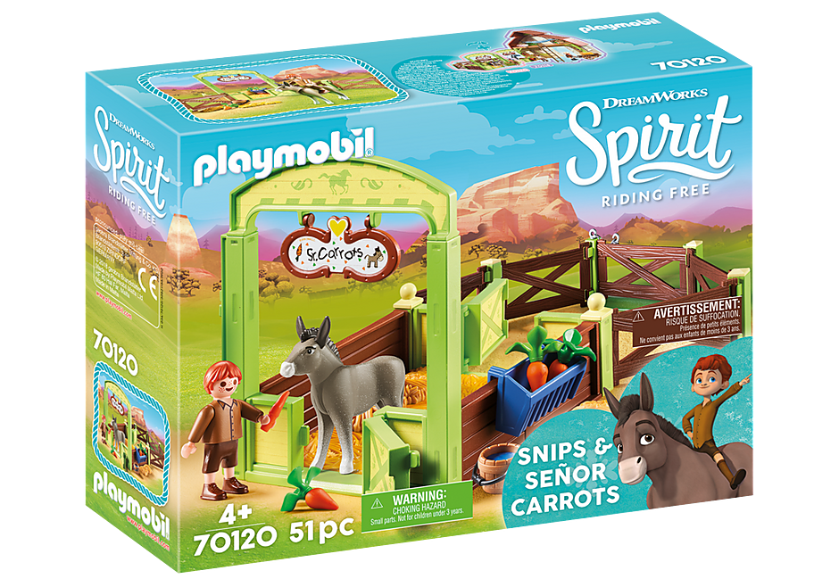 70120 Snips and Señor Carrots with Horse Stall detail image 2