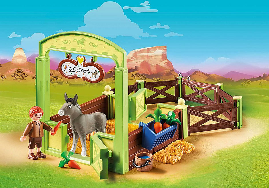 70120 Snips and Señor Carrots with Horse Stall detail image 1