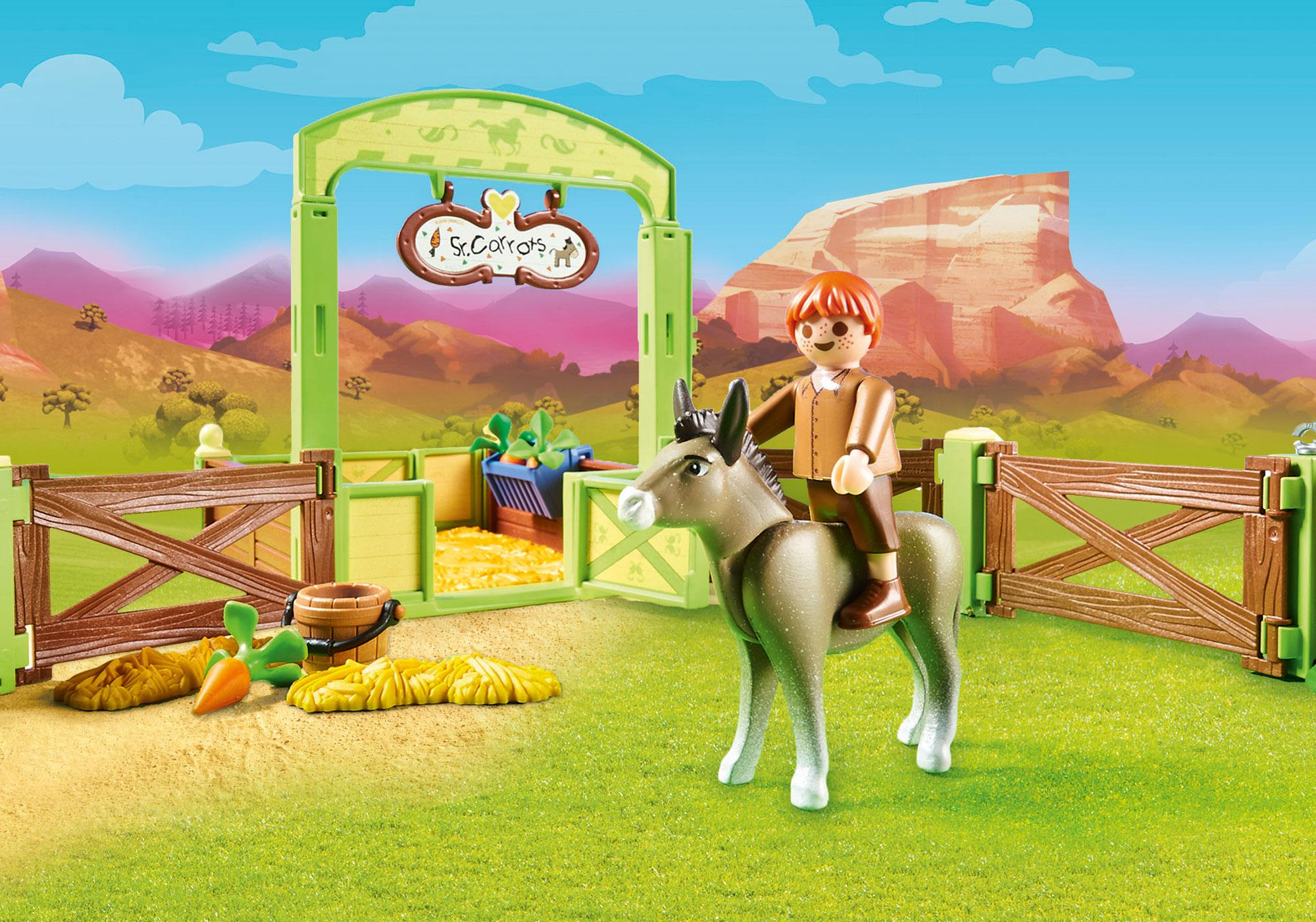 http://media.playmobil.com/i/playmobil/70120_product_extra1/Snips & Señor Carrots with Horse Stall