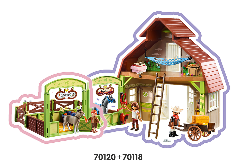 http://media.playmobil.com/i/playmobil/70120_product_extra2/Snips & Señor Carrots with Horse Stall
