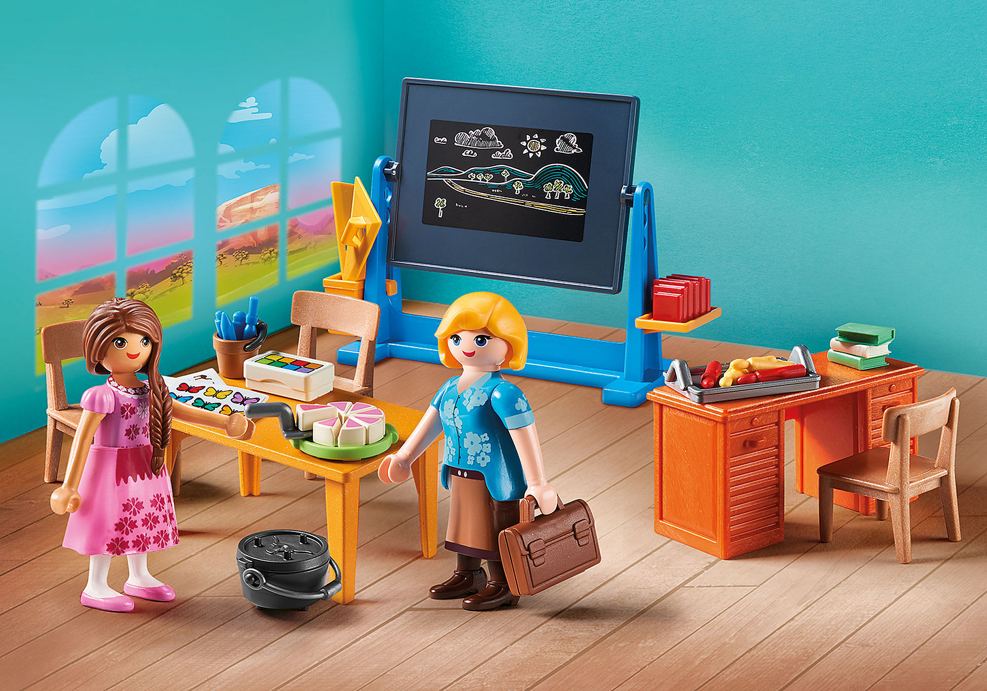 http://media.playmobil.com/i/playmobil/70121_product_detail/Fröken Flores klassrum