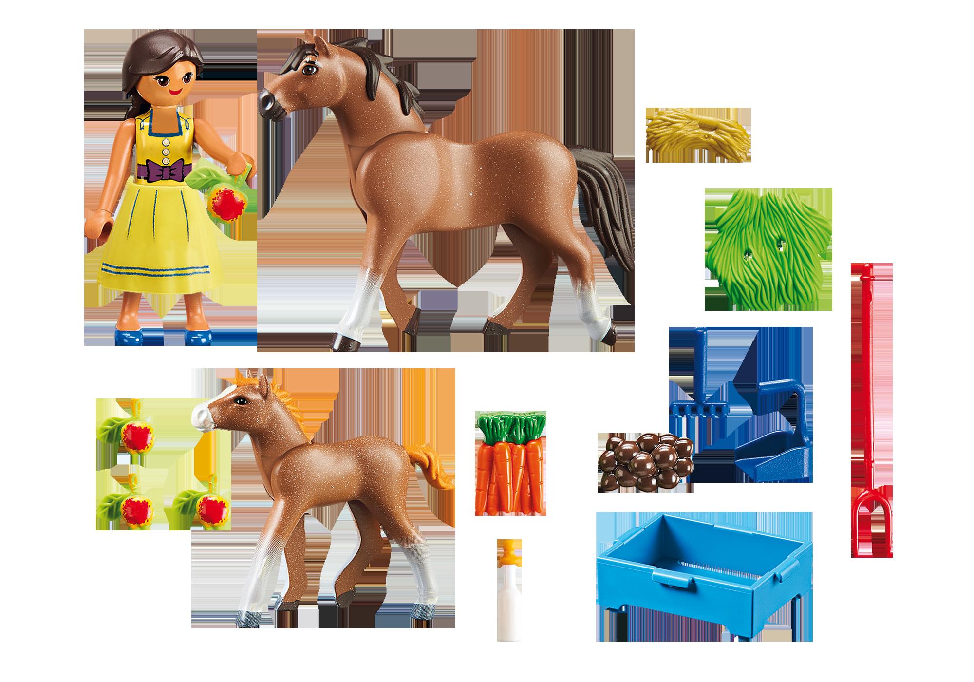http://media.playmobil.com/i/playmobil/70122_product_box_back/Pru com Cavalo e Potro