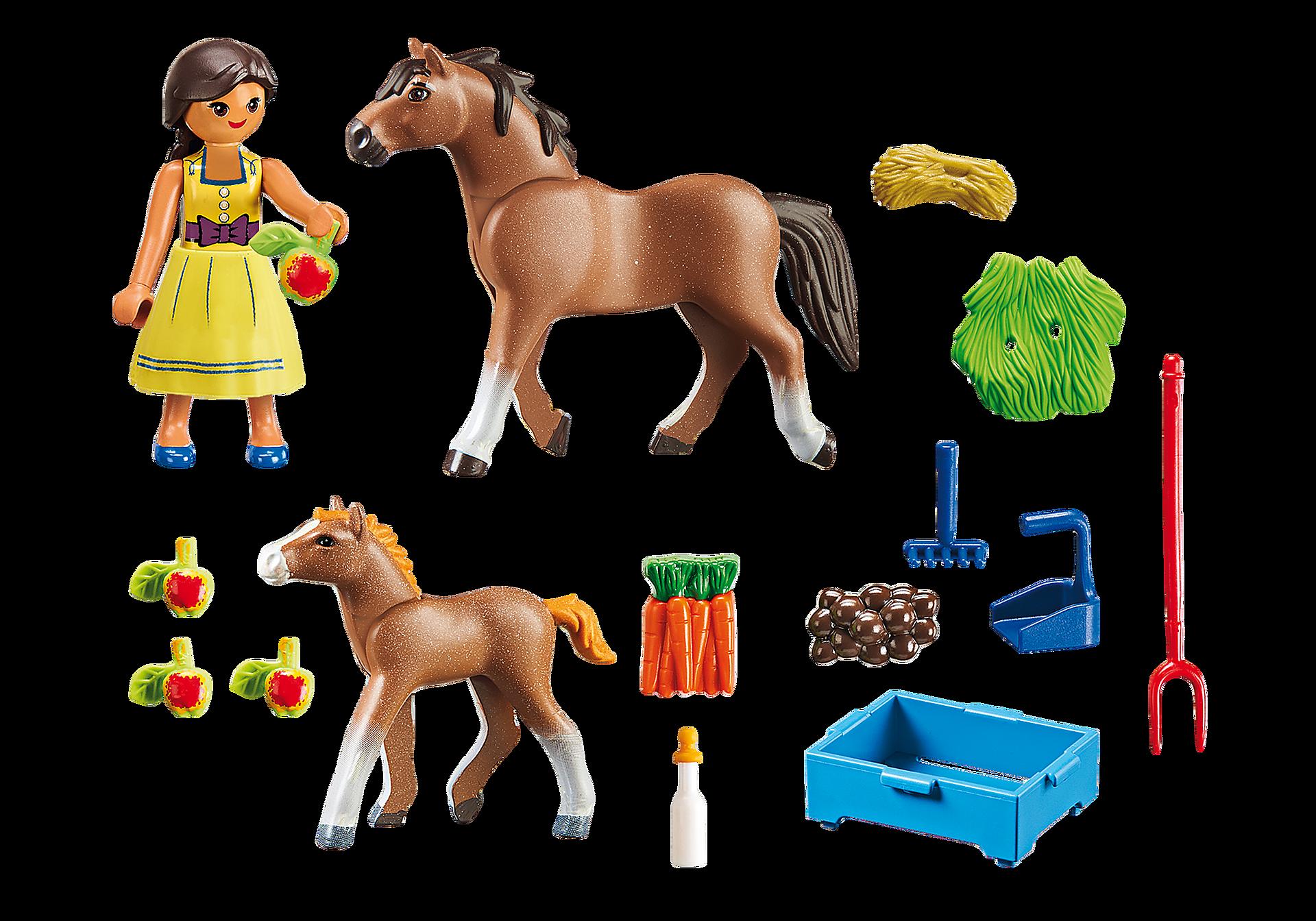 70122 Pru met paard en veulen zoom image3